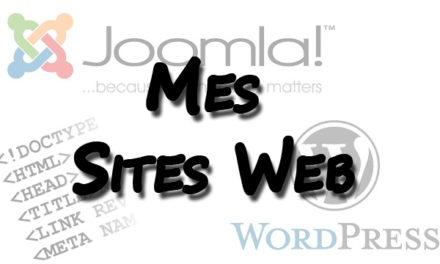 Mes premiers sites Internet