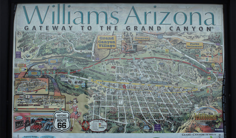 Carte de Williams en Arizona