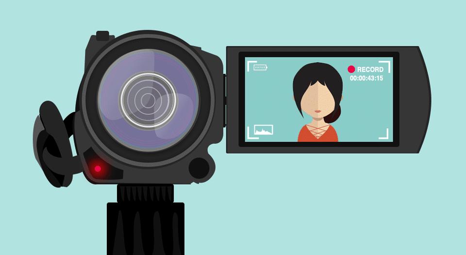 Caméra de vlog illustrée